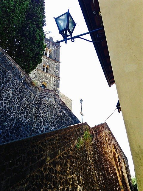 Romanesque cathedral in Barga, Tuscany