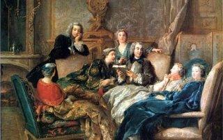 La Lecture De Moliere by Jean-Francois De Troy